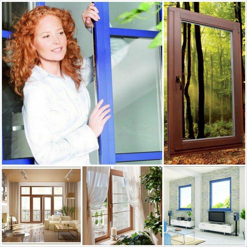Ламинированные окна для особого интерьера