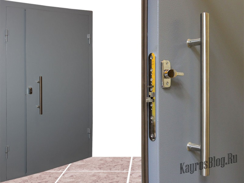 тамбурные железные двери металлические
