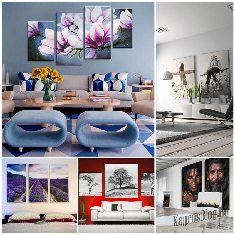 Постеры и модульные картины в интерьере квартиры