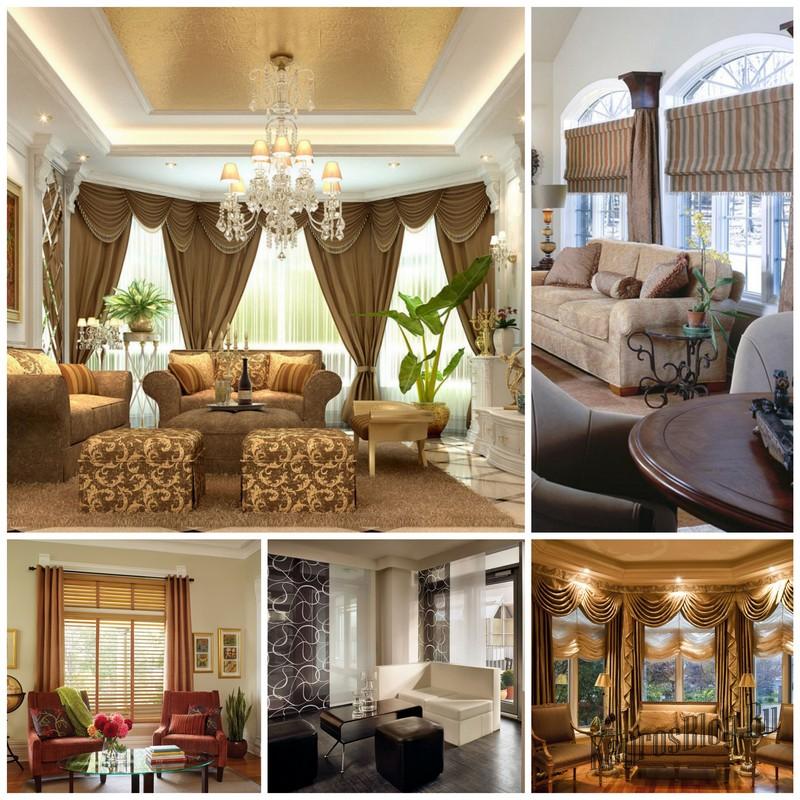 Выбираем шторы для гостиной: основные виды