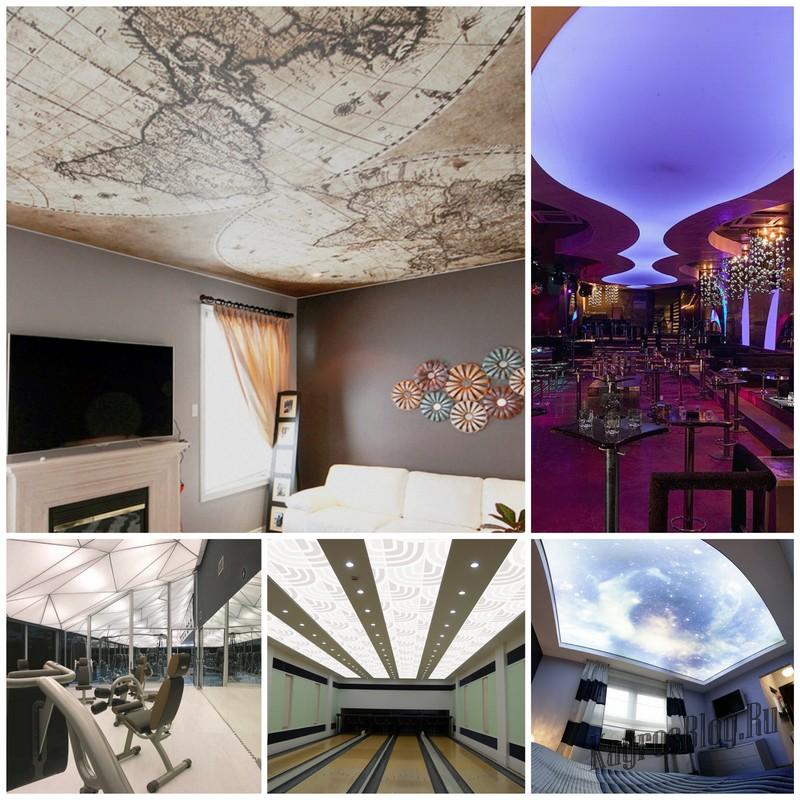 Натяжные потолки – плацдарм для дизайнерского творчества
