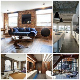 Оформление квартиры в стиле лофт