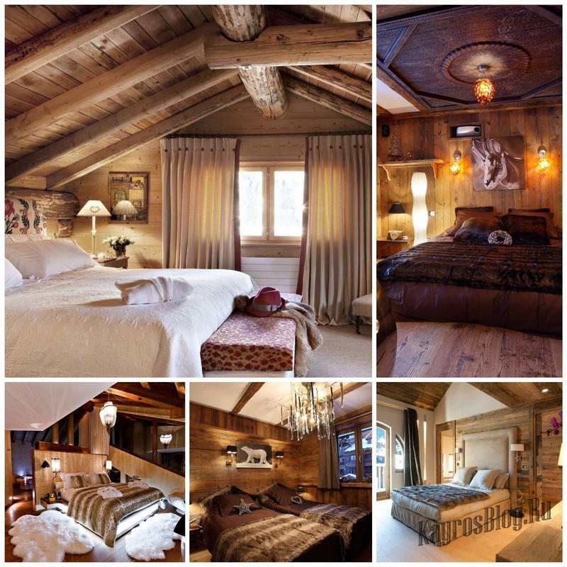 Создание уютной спальни в стиле Шале