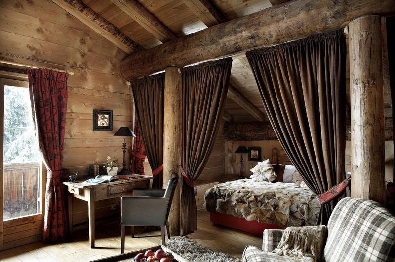 Картинки по запросу шале интерьер спальни
