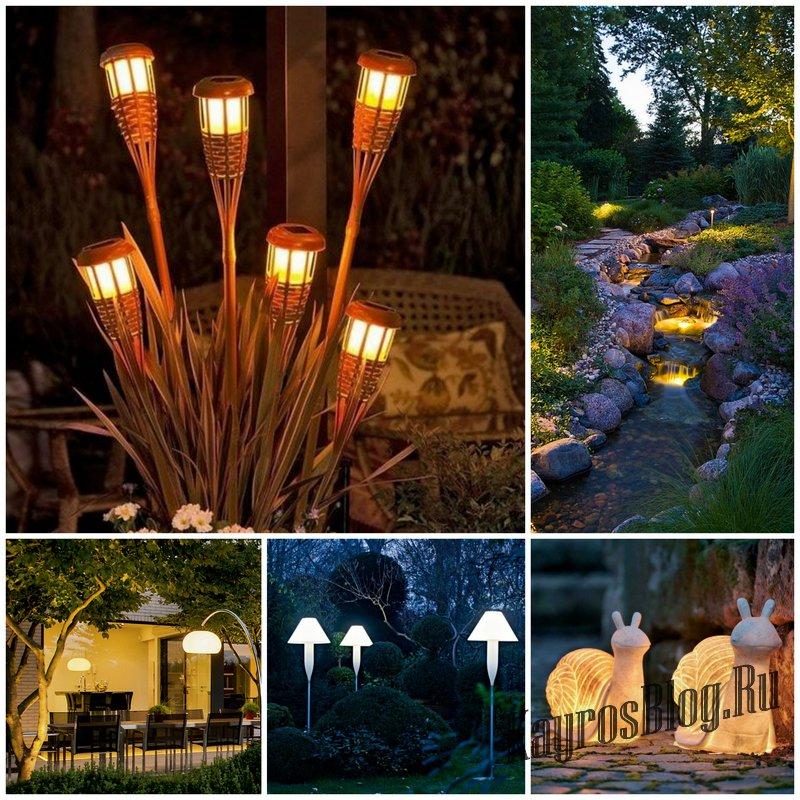 Светильники и фонари в саду, как способ поднять настроение