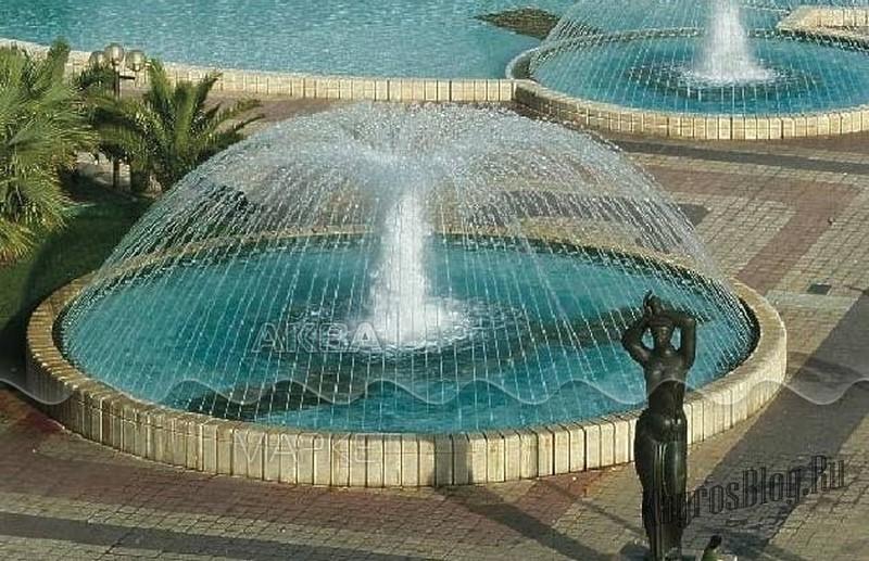 Пример действия насадки для фонтана