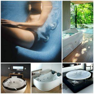 Формы и размеры джакузи в ванную комнату