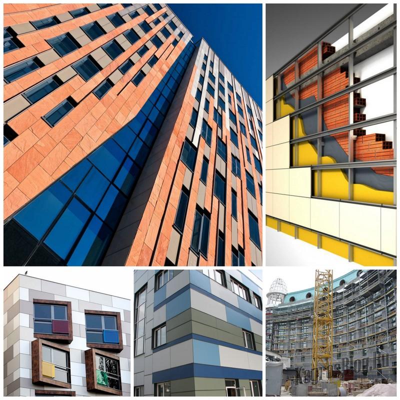 Новая технология в строительстве - вентилируемый фасад