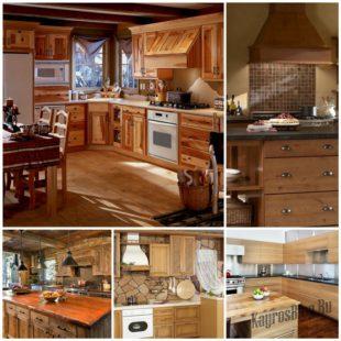 Деревянная кухня – воплощение стиля и уюта