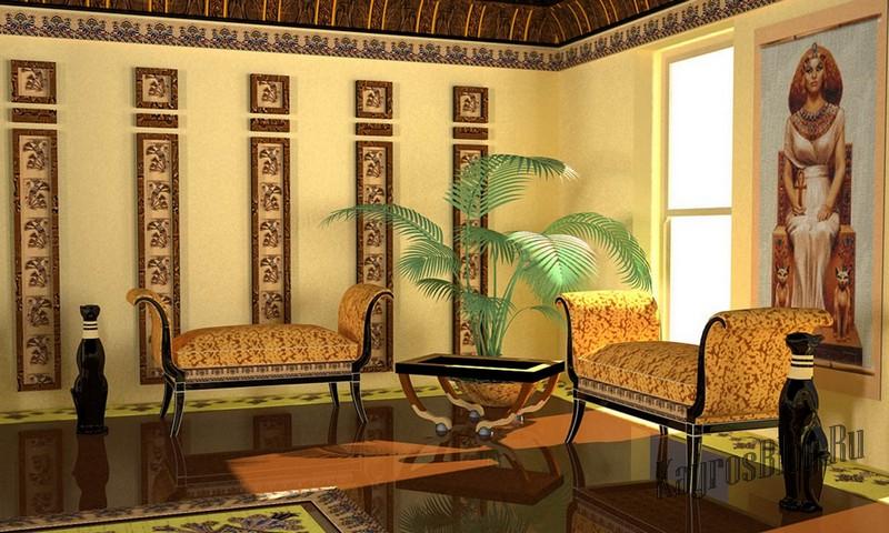 Египетский стиль в интерьере и его особенности