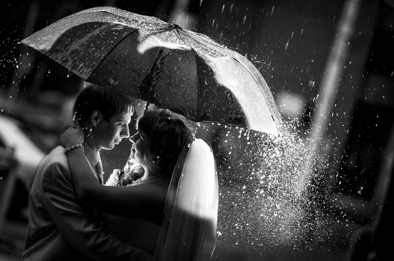 Фотосъёмка на фоне дождя