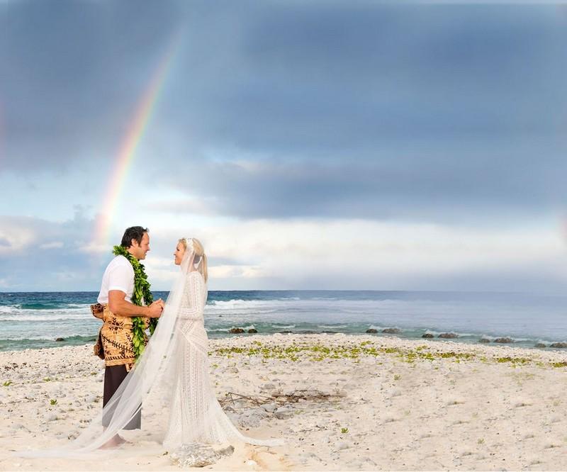 свадьба Фото на фоне радуги