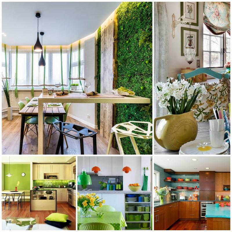 Интерьер кухни в весеннем стиле - декор своими руками