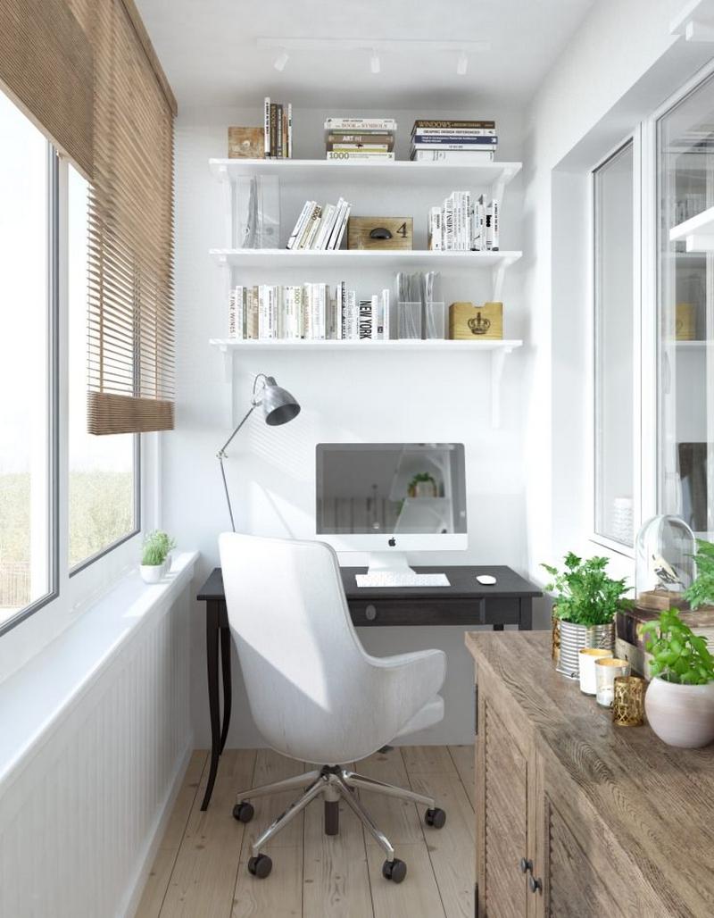 Балкон рабочая зона дизайн