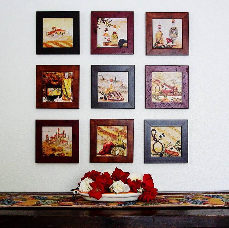 Как сделать на стене картину