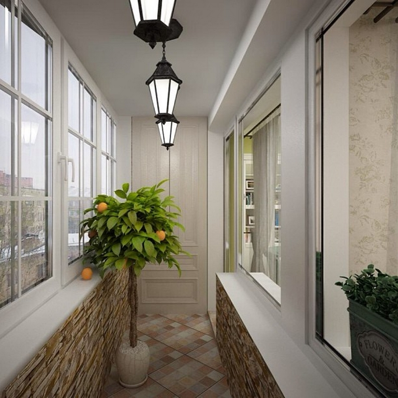 Дизайн отделки узких балконов и лоджий фото..