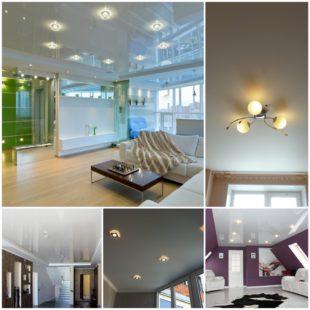 Различия матовых и глянцевых поверхностей натяжных потолков