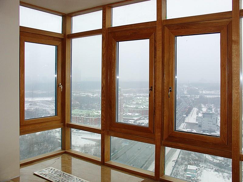 деревянное остекление балконов
