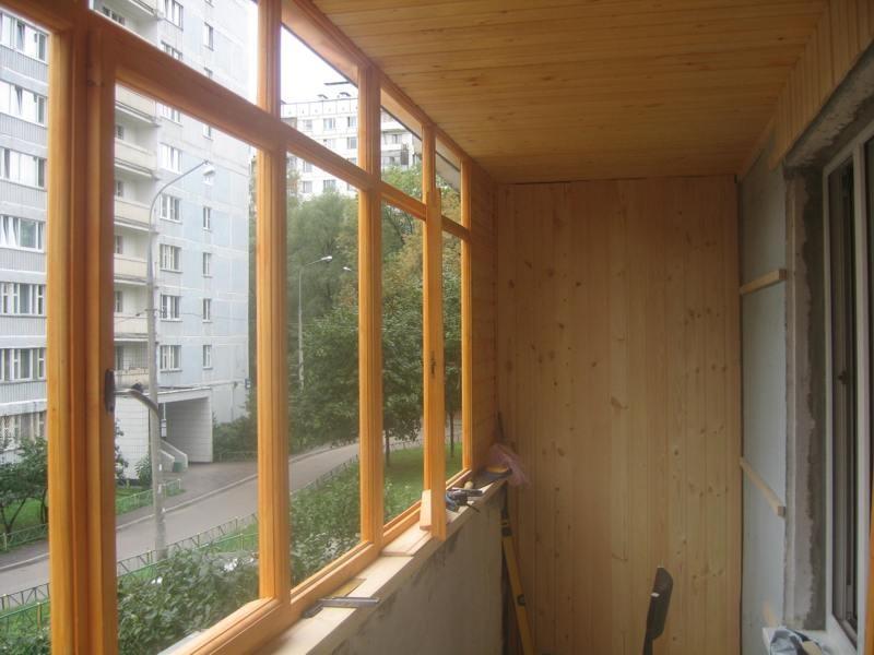деревянное остекление лоджий
