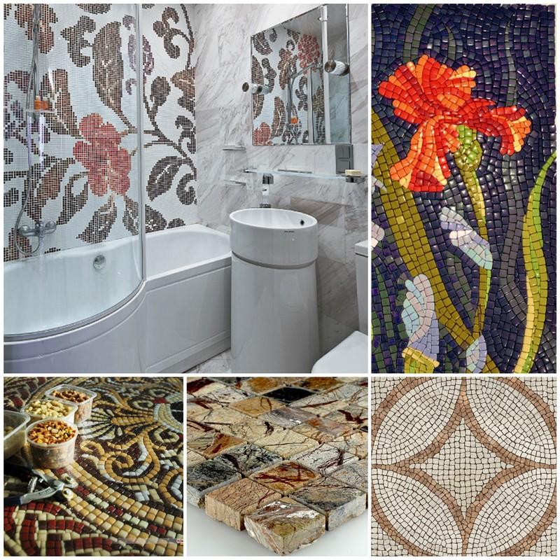 Плитка мозаика: виды и сферы применения