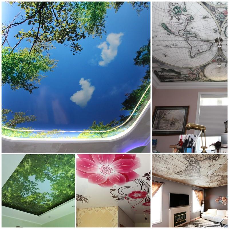 Натяжные потолки с фотопечатью - особенности выбора