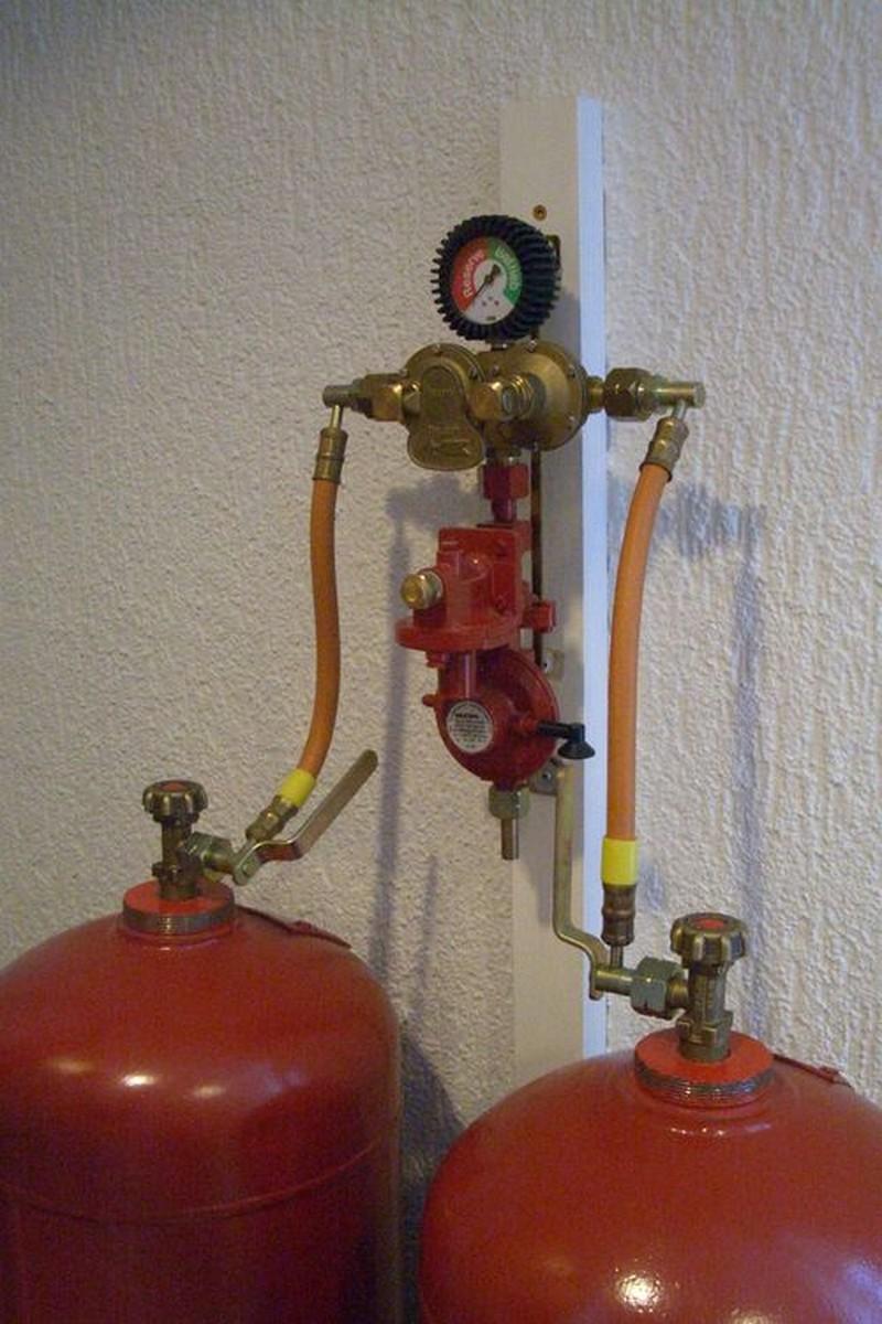 Как сделать отопление на баллонном газе