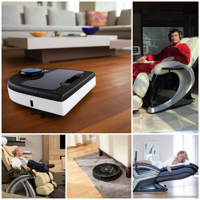 Робот-пылесос и массажное кресло - современные бытовые приборы