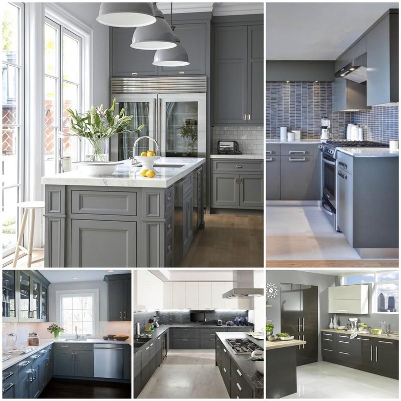 Серые цвета в интерьере кухни - аристократизм и стиль