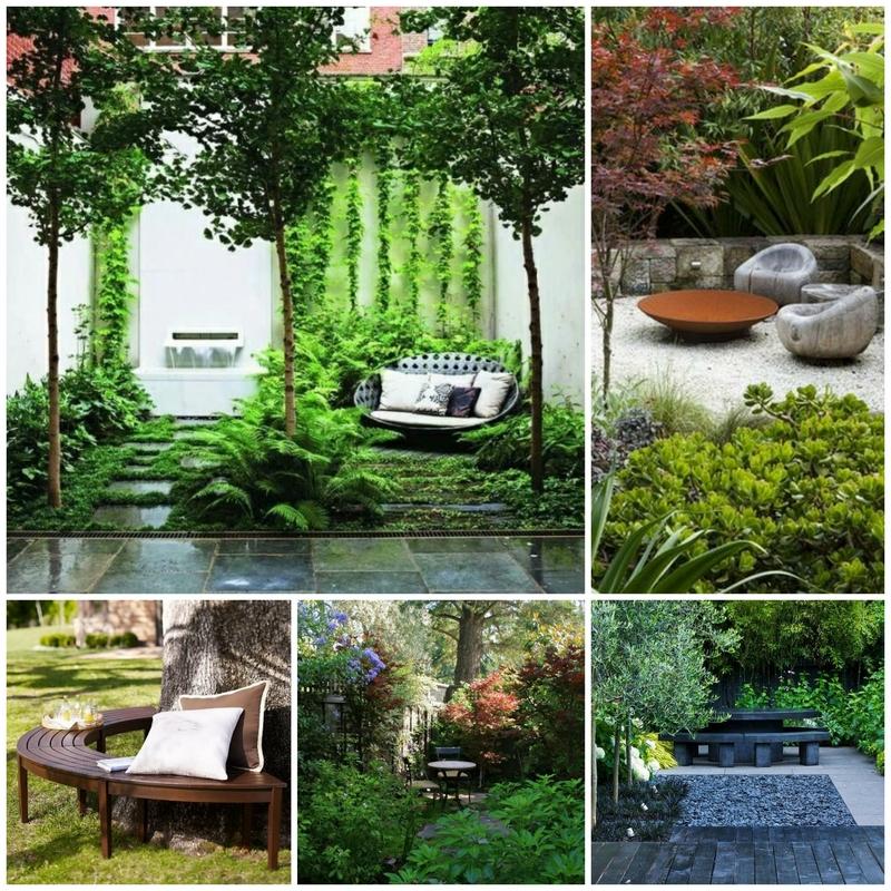 Уединенный уголок отдыха в саду