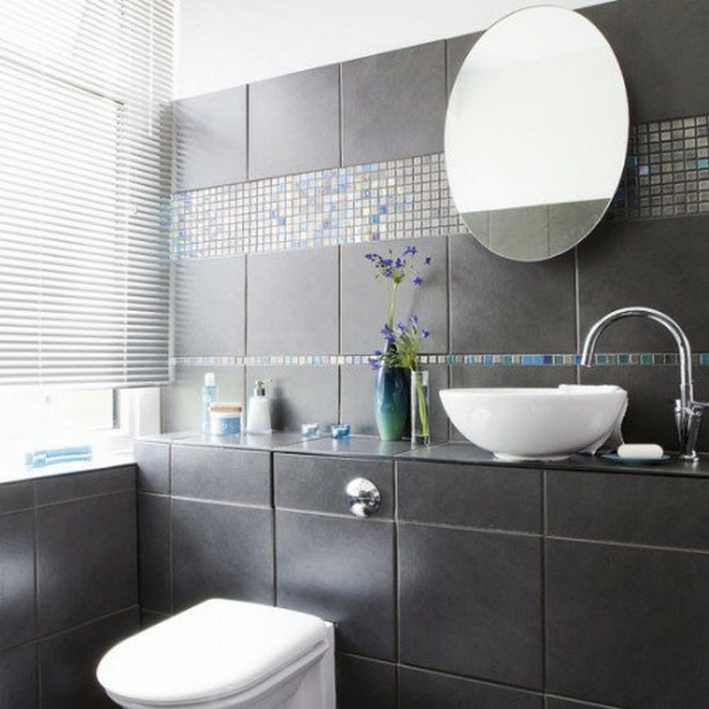 Badezimmer dekorieren blau