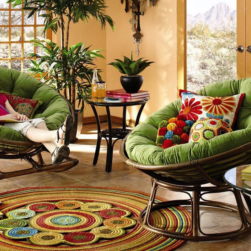 Круглые кресла в интерьере фото