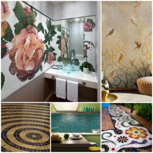 Укладка мозаики - модный тренд декорирования интерьера