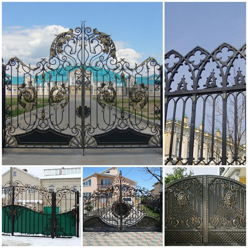 Установка кованных ворот своими руками 2