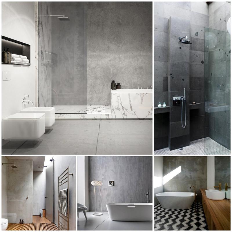 Бетон в ванной комнате – идеи и вдохновение 9