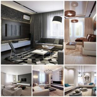 Модный интерьер гостиной комнаты - основные тренды дизайна