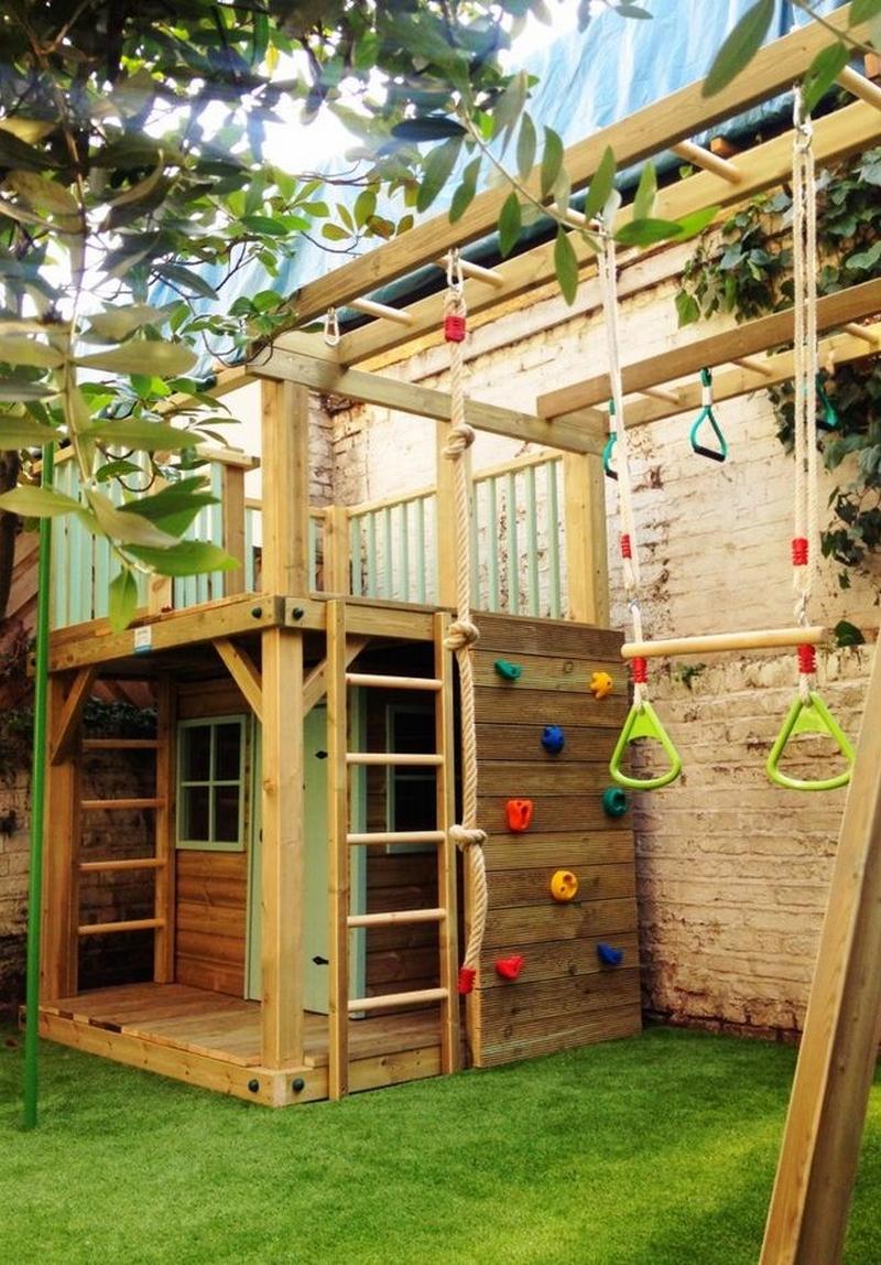 Детские игровые домики на даче своими руками