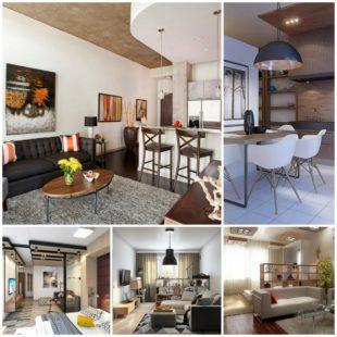 Варианты увеличения площади, создания зон и дизайна однокомнатной квартиры