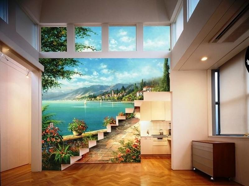 Фрески в интерьере для расширения пространства.