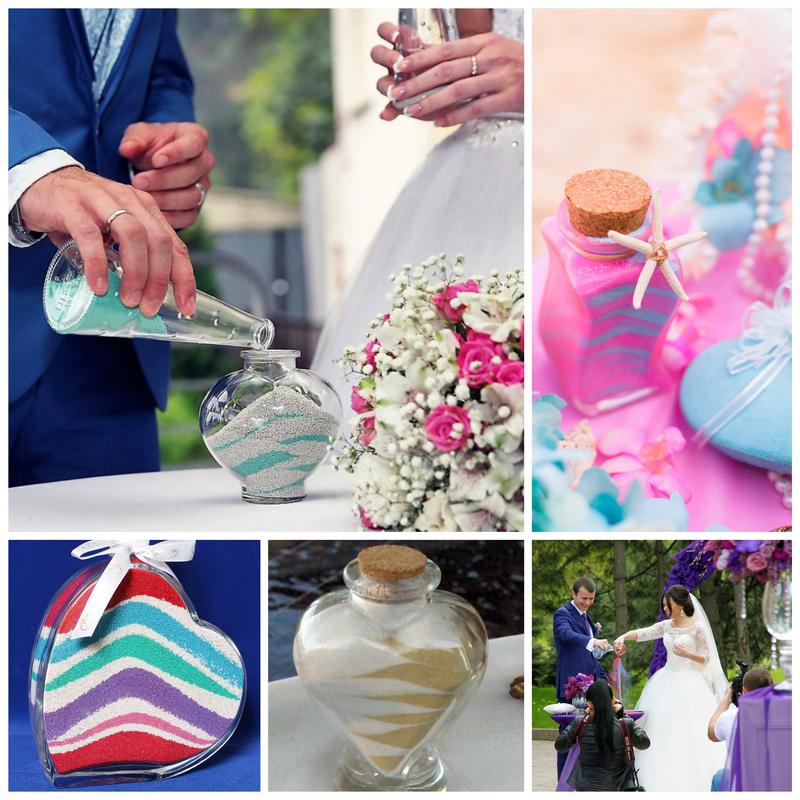 Песочная церемония на свадьбе - оригинальные сценарии свадьбы