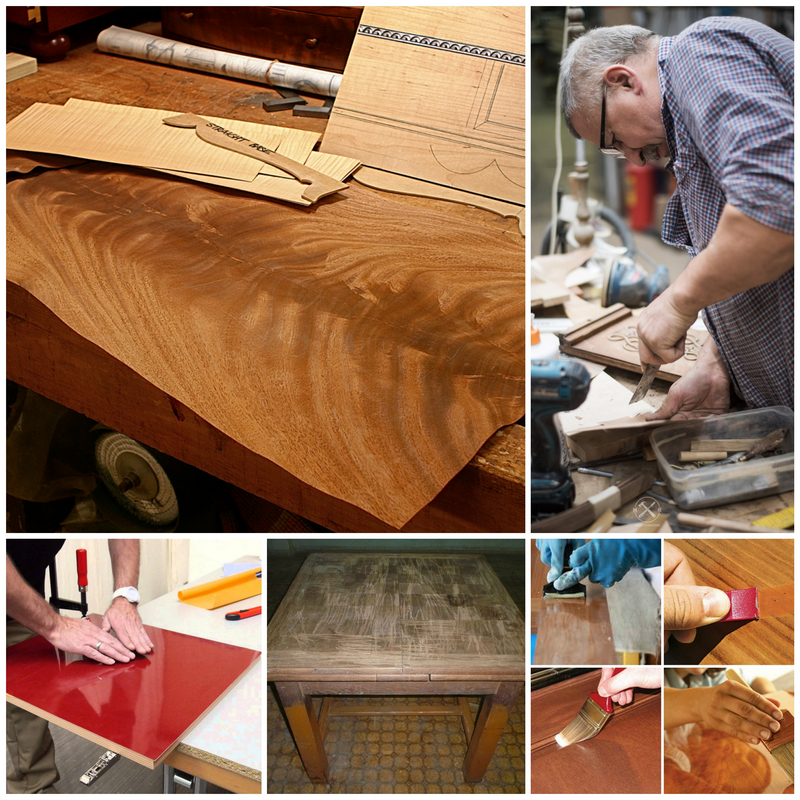 Шпонированная мебель - варианты её ремонта