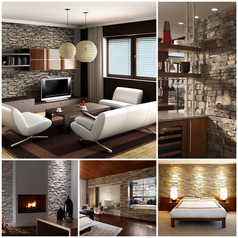 Искусственный фасадный камень - использование внутри помещения