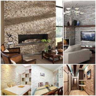 Оформление дизайна интерьера: красота и практичность искусственного камня