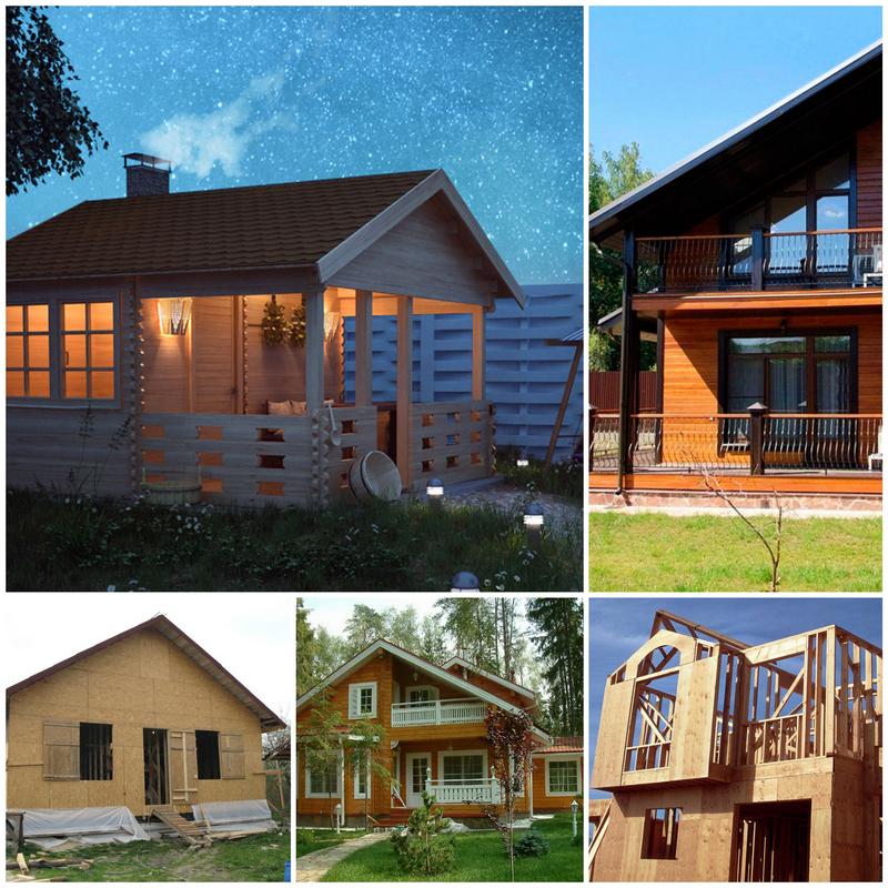 Каркасно-щитовые дома и деревянные бани - современные технологии строительства