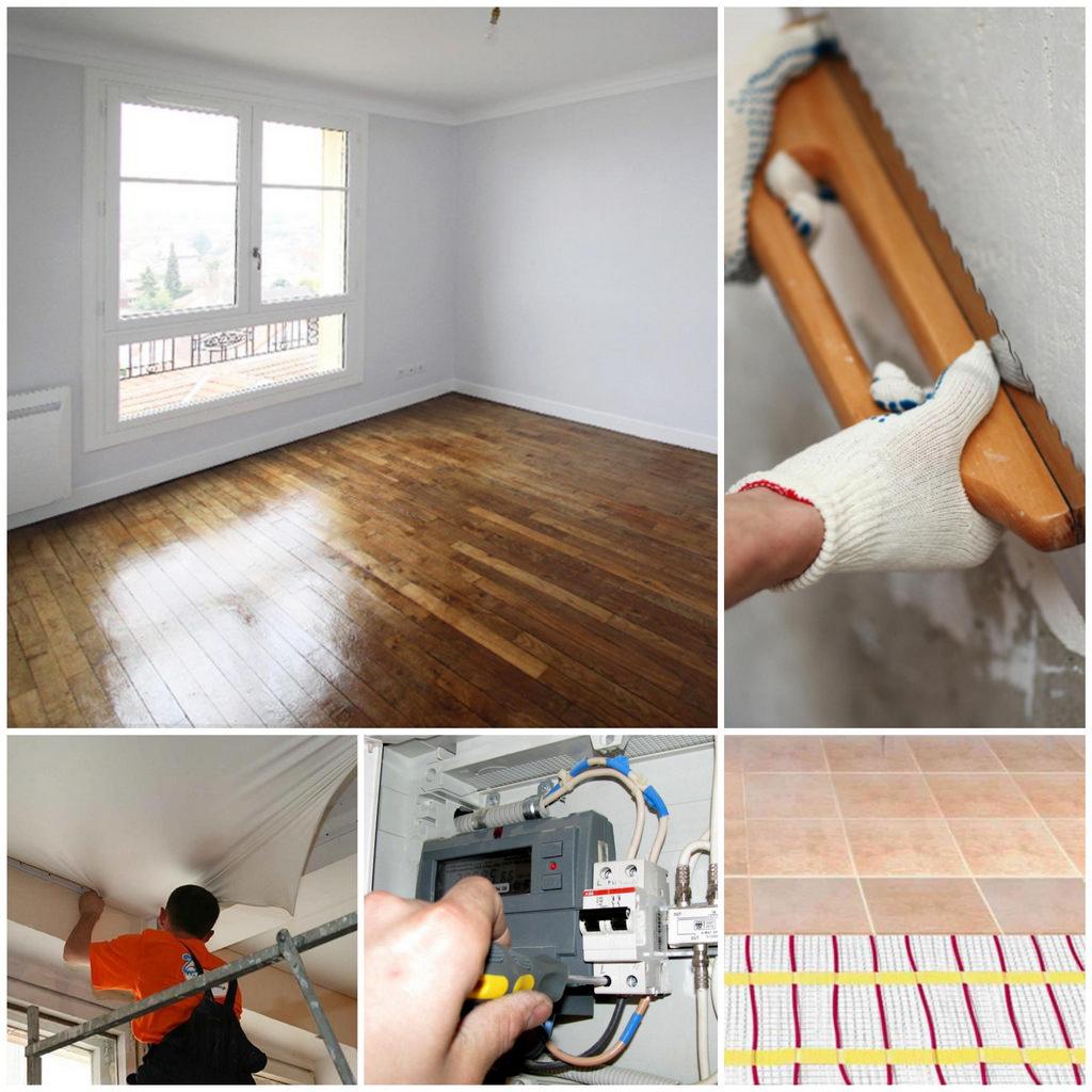 Ремонт квартиры без отделки: этапы работы