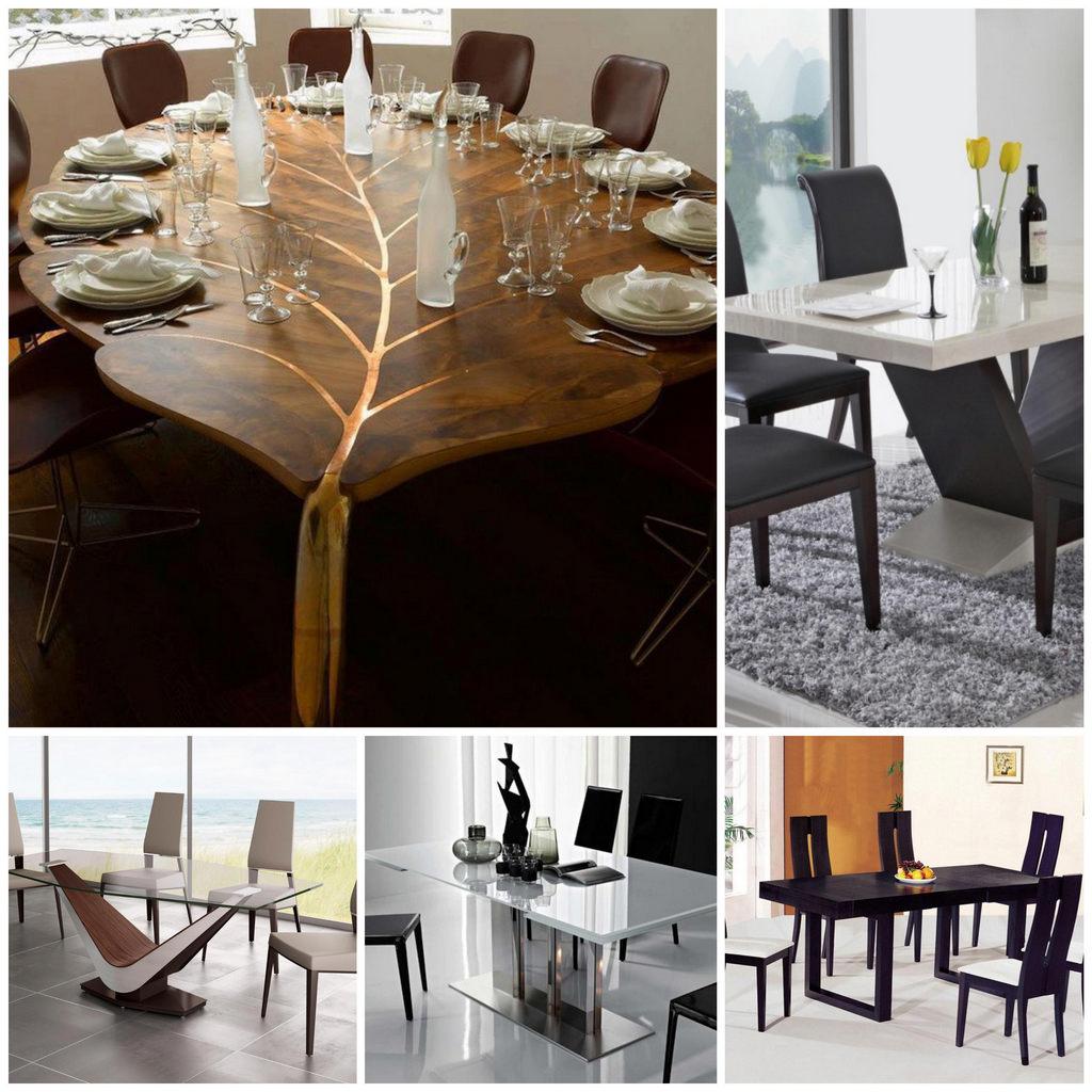 Основные виды обеденных столов