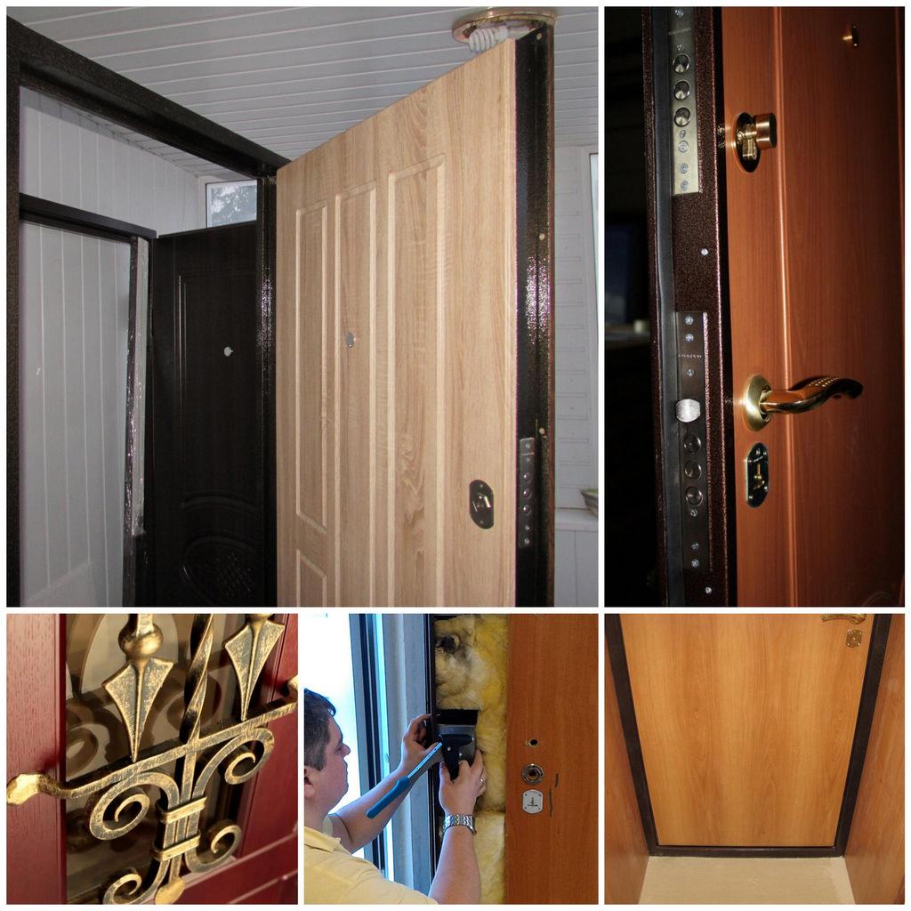 Отделка внутренней поверхности стальной двери