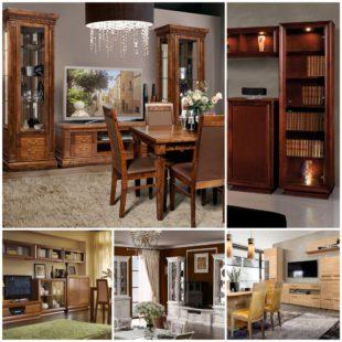 Преимущества мебели из массива для гостиной