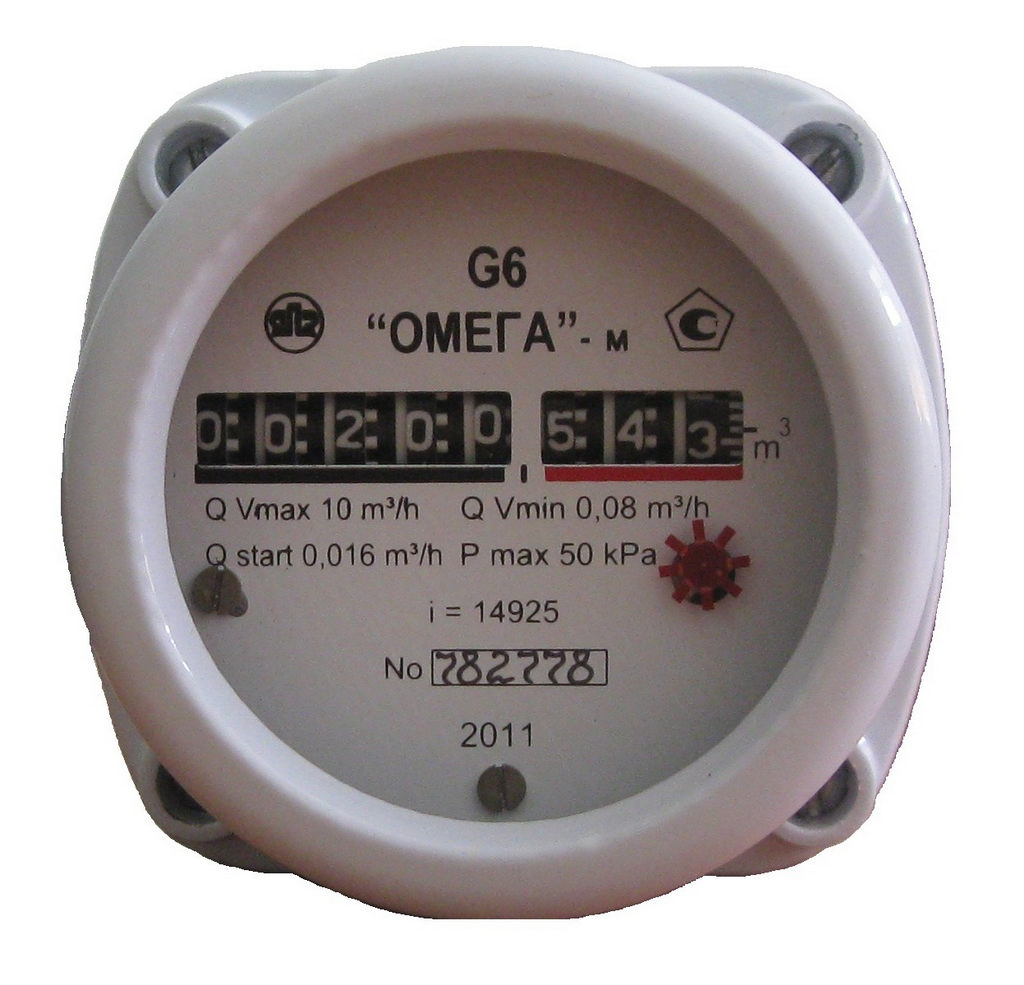 бытовой счётчик газа ротационного типа