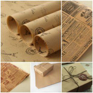 Крафт-бумага для уникального дизайна упаковки