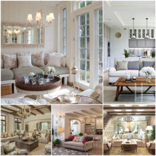Оформление гостиной в стиле прованс - советы дизайнера